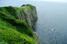 природа, побережье, море, скала
