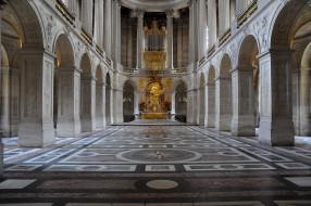 Часовня, версале, интерьер, дворцы, музеи, колонны, арки, орган