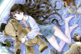 kamisama, no, memo, chou, аниме, юко, сиондзи, алиса, девочка, игрушки, плюшевый, мишка