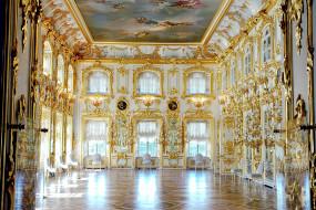 интерьер, дворцы, музеи, стулья, роспись, паркет, бальный, зал, позолота