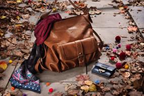 разное, сумки, кошельки, зонты, кошелек, платок, листья, перчатки, сумка