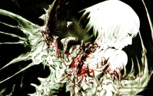 аниме, blame, падший, ангел, кровь, крылья