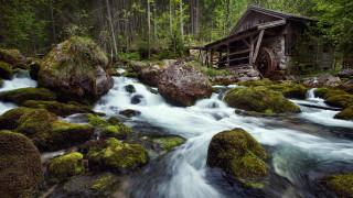 природа, реки, озера, река, мельница, камни
