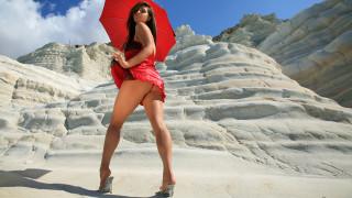 _Unsort -НЕ ВЫБИРАТЬ  , девушки, , не, выбирать, скалы, пески, красное, платье, зонтик