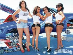автомобили, авто, девушками, тёлки