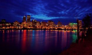 portland, города, огни, ночного