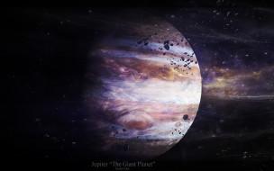 космос, юпитер, звезды, астероиды
