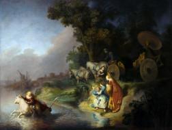 Рембрандт -  Похищение Европы обои для рабочего стола 5600x4224 рембрандт, похищение, европы, рисованные, rembrandt, van, rijn