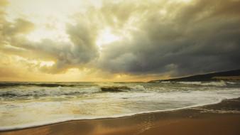 обои для рабочего стола 1920x1080 природа, моря, океаны, побережье, волны, закат