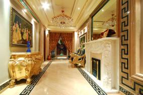 интерьер, дворцы, музеи, камин, комната