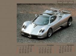 pagani, zonda, календари, автомобили