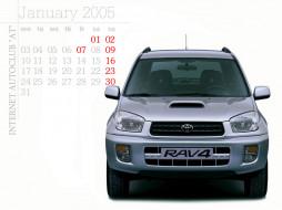 rav4, календари, автомобили