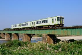 обои для рабочего стола 1920x1280 техника, поезда, мост, трава, поезд