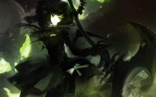 аниме, black, rock, shooter, демон, девушка, коса