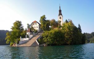 assumption, of, mary, pilgrimage, church, lake, bled, slovenia, города, блед, словения
