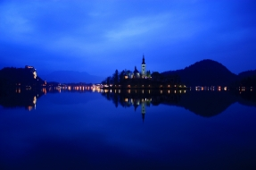lake, bled, slovenia, города, блед, словения