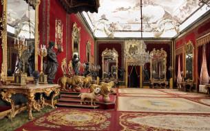 интерьер, дворцы, музеи, картины, скульптура, светильники, лепка