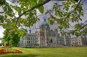 канада, victoria, parliament, города, здания, дома, ландшафт, здание