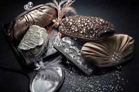 разное, сумки, кошельки, зонты, перья, зеркало, бриллианты