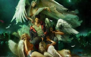 DmC Devil May Cry обои для рабочего стола 2560x1600 dmc, devil, may, cry, видео, игры, ангелы, парень, dante, девушки