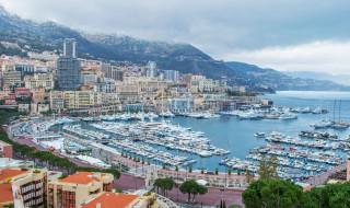 monte, carlo, monaco, города, монте, карло, монако, яхты, дома, море