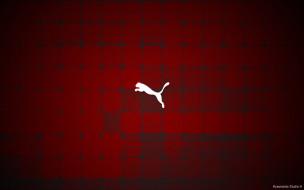 бренды, puma, эмблема, логотипклетки, красный