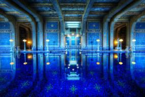 hearst, castle, интерьер, дворцы, музеи, california