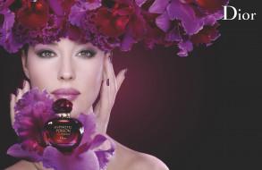 бренды, dior, цветы, духи, девушка