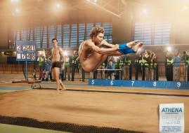бренды, athena, юмор, прыжок, соревнования