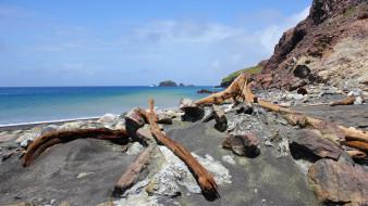 обои для рабочего стола 1920x1080 природа, побережье, камни, коряги