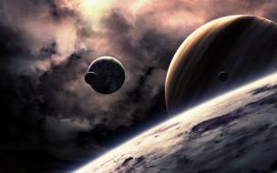обои для рабочего стола 1920x1200 космос, арт, поверхность, планеты
