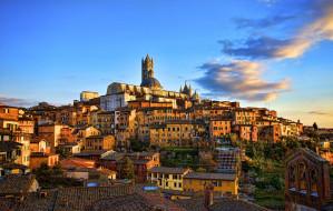 г. Сиенна (Италия) обои для рабочего стола 2200x1400 сиенна, италия, города, панорамы, дома, башня, холм