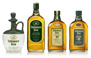 бренды, tullamoredew, четыре, бутылки