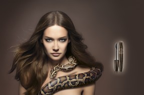 helena, rubinstein, бренды, тушь, ресницы, макияж, змея