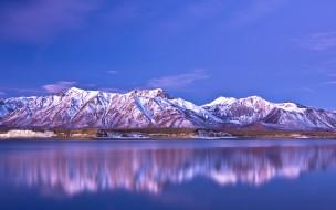 природа, реки, озера, отражение, озеро, горы, небо
