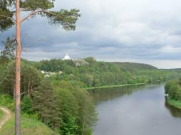 природа, реки, озера, река, облака, деревья