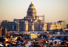 обои для рабочего стола 2800x1935 города, брюссель, бельгия, собор, дома, крыши