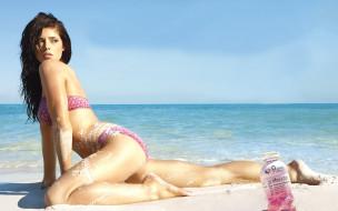 ashley, greene, бренды, sobe, life, water, море, песок, девушка, бутылка