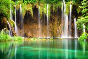 природа, водопады, вода