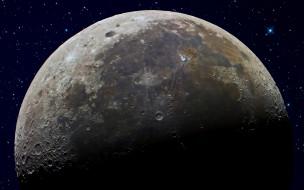 обои для рабочего стола 2560x1600 космос, луна, звезды, небо