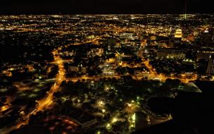 города, огни, ночного, сан-антонио, техас, ночь