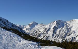 обои для рабочего стола 1680x1050 природа, горы, небо, снег
