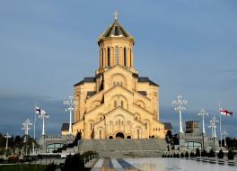 города, тбилиси, грузия, церковь, собор, величественный
