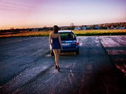 автомобили, авто, девушками
