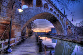 manayunk, canal, города, мосты, филадельфия