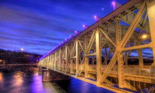 the, falls, bridge, города, мосты, филадельфия