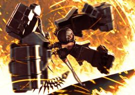 strength, аниме, black, rock, shooter