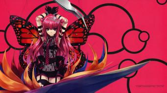 аниме, beatmania, крылья, девушка