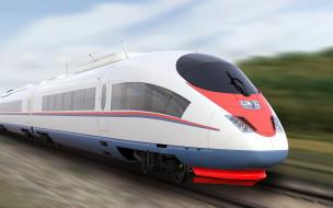 техника, поезда, экспресс, скорость, изящество