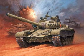 обои для рабочего стола 2244x1496 рисованные, армия, т-72, танк, enzo, maio
